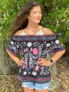 Thinking of You Off The Shoulder Top - Jessi Jayne Boutique