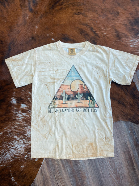 Crazy Consuela All Who Wander Are Not Lost Antique Graphic Tee