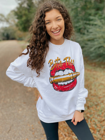 Bite The Bullet Crewneck Pullover S-2X