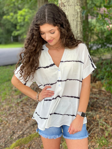Blue Rapids Blouse - Jessi Jayne Boutique