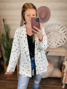 Pretty in Polka Dots Andree Ivory Blazer