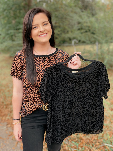 Seriously Burn-out Leopard Short Sleeve Top (reg-curvy)