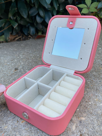 Kids Leather Square Jewelry Box