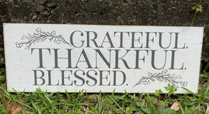 Grateful. Thankful. Blessed Distressed Wall Decor - Jessi Jayne Boutique