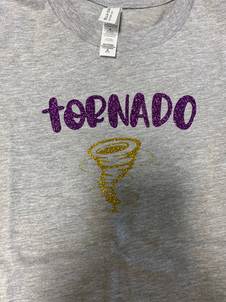 Tornado Purple and Gold Youth Graphic Tee