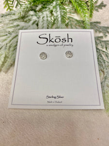 Skosh Round Mini Diamond Studded Earrings