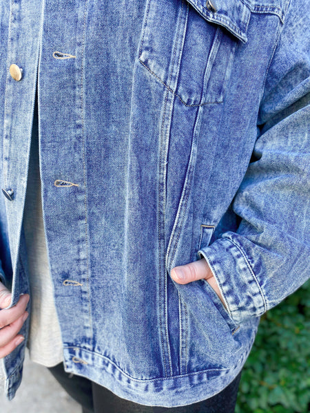Set in Stone Curvy Denim Jacket