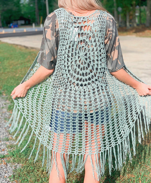 Never A Dull Moment Fringe Knit Vest - Jessi Jayne Boutique