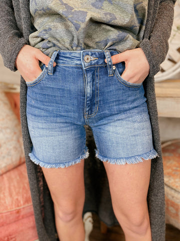 Kicking it Off High Rise Denim Shorts (Two colors)