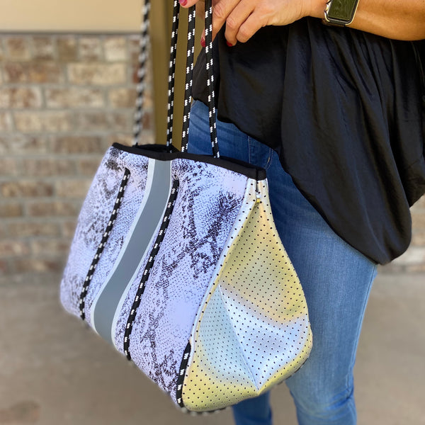 Neoprene Perforated Tote - Jessi Jayne Boutique