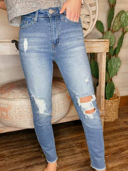 Day and Night Vintage Denim Straight Jeans