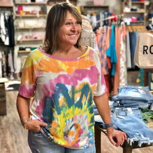 Dye-Nomite Tie Dye Short Sleeve Tee - Jessi Jayne Boutique