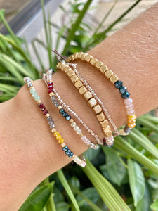 Multi Woven Glass Bead Bracelet Set - Jessi Jayne Boutique