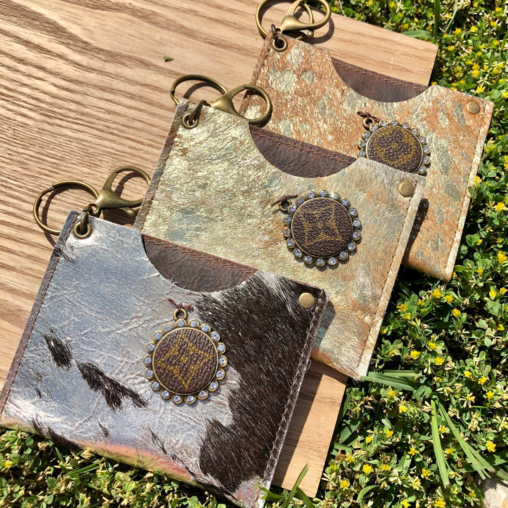 Keep It Gypsy Key Chain Acid Washed Hide Card Holder/ Money Pouch - Jessi Jayne Boutique