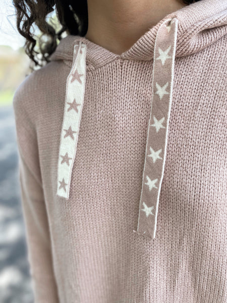 Under the Stars Mauve Hoodie Sweater