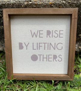 We Rise By Lifting Others Wooden Wall Decor - Jessi Jayne Boutique