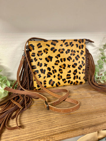 American Darling Cheetah Fringe Cross-Body