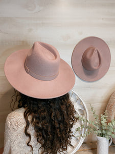 Mabel Wool Mauve Panama Hat