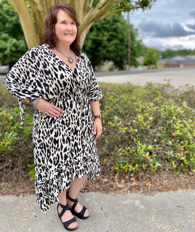 Hope & Happiness Leopard High/Low Curvy Dress - Jessi Jayne Boutique