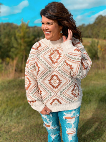 Amber Rose Multi Muted High Neck Sweater