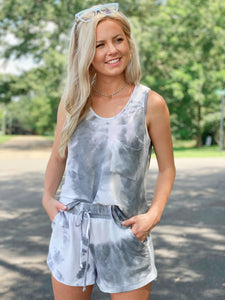 Smoky Dawn Sleeveless Shorts Two Piece
