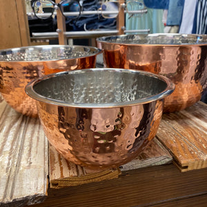 Copper Hammered Stainless Bowl Set - Jessi Jayne Boutique