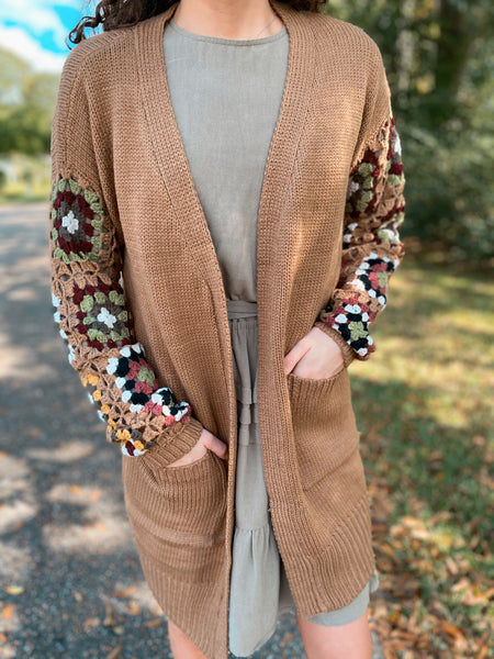 Soul Mate Printed Sleeve Sweater Cardigan