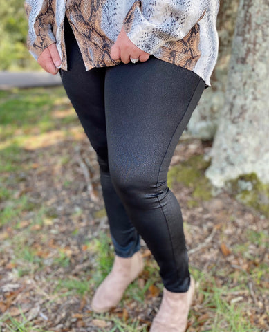 Nightfall Faux Leather Leggings Sm-3X
