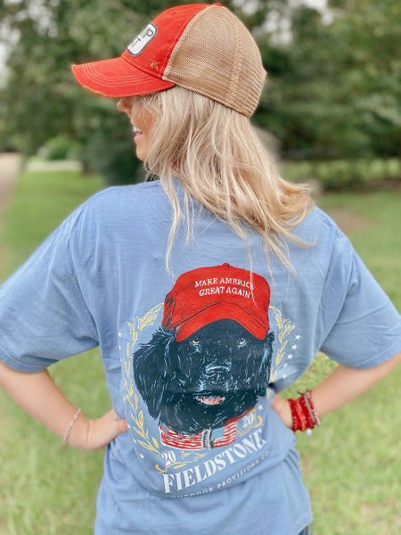 Make America Great Again Blue Comfort Color T-Shirt Unisex MAGA