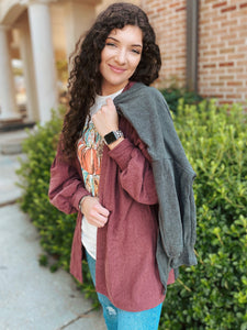 Barberry Bubble Sleeve Cardigan