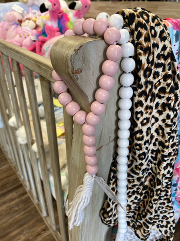 Pink Looped Wooded Bead Garland - Jessi Jayne Boutique