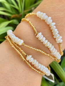 Fresh Water Pearl Bead Bracelet Set - Jessi Jayne Boutique