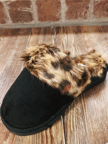 Kids Snooze Leopard Corkys Slippers