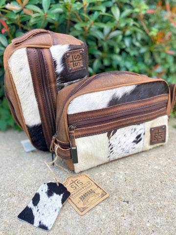 STS Cowhide Shaving Kit/Makeup Bag