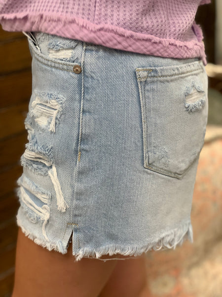 Down For Denim High Rise Shorts - Jessi Jayne Boutique