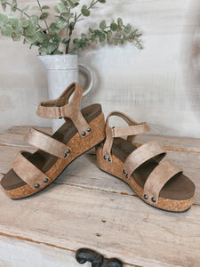Corky's Tan Cona Wedge Sandal