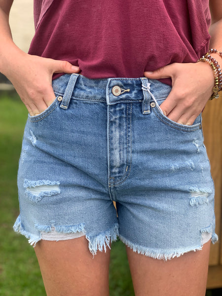 Southern Belle Blue Jean Shorts - Jessi Jayne Boutique