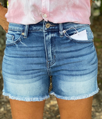 Water Tower High Rise Shorts Kan Can Denim Shorties - Jessi Jayne Boutique