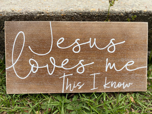Jesus Loves Me This I Know Wooden Wall Plaque - Jessi Jayne Boutique