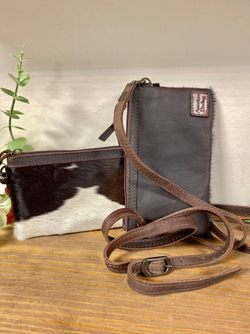 American Darling Brown Cow Hide Cross-Body