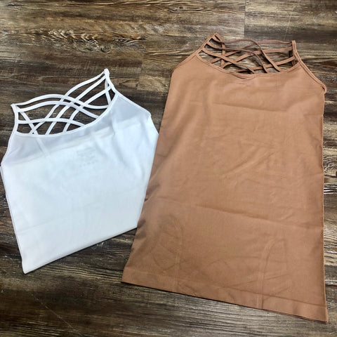 Seamless Triple Criss-Cross Front Cami - Jessi Jayne Boutique