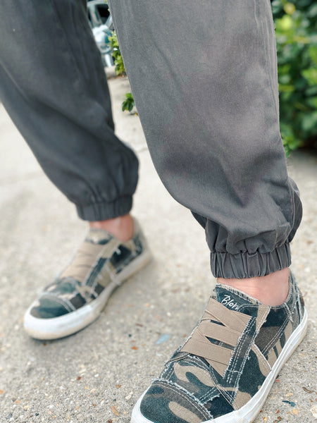 Happy Harvest Brown Cargo Jogger Pants