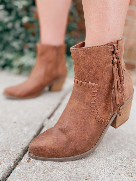 Not Rated Zaine Fringe Booties