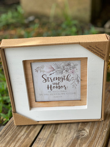 Strength and Honor Table Top Frame - Jessi Jayne Boutique