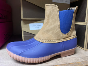 Kids Teddy Blue Short Duck Boot