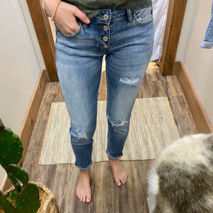 B. Benny Mid Rise Girlfriend Fit Jeans Kan Can - Jessi Jayne Boutique