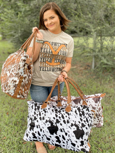 The Ultimate JJ Cow Print Weekender Bag