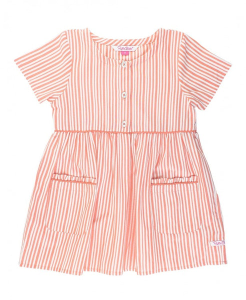 Coral Stripe Pocket Dress - Jessi Jayne Boutique