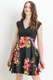 Grace Floral Flare Maternity & Nursing Dress