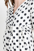 Polka Dot Maternity & Nursing Wrap Dress